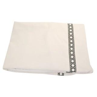 Custom King Linen Duvet with Tape