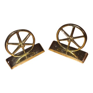 Mid-Century Brass Bookends