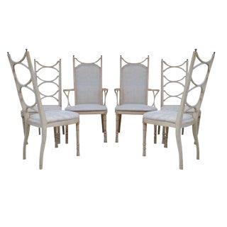 Tomlinson Pavane Hollywood Regency Dining Chairs - Set of 6