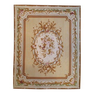 """Pasargad Aubusson Hand Woven Wool Rug - 9' 8"""" x 12' 1"""""""