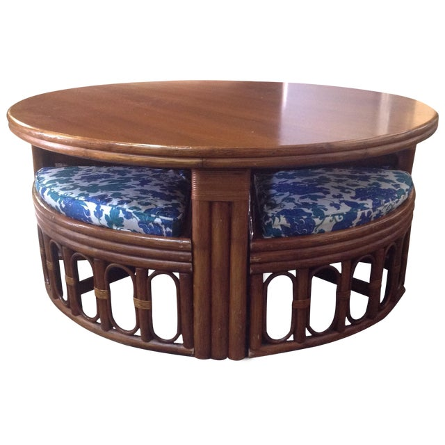 1940's Bamboo Game Table Dining Set - Image 1 of 8
