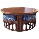 Image of 1940's Bamboo Game Table Dining Set