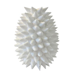 Contemporary White Urchin Vase