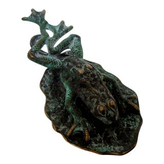 Verdigris Frog Desk Accent