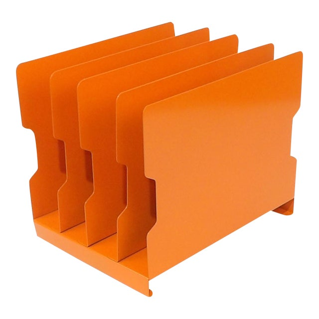 Orange Metal Desk Organizer - Image 1 of 9