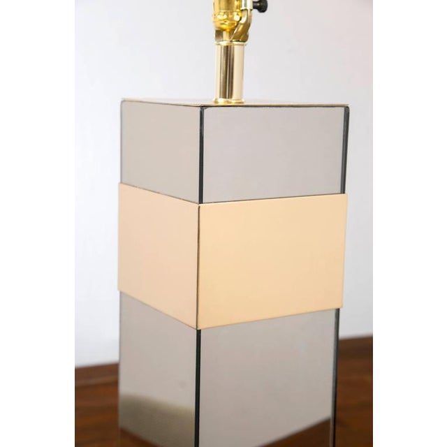 Paul Evans Style Glass and Brass Lamp - Image 6 of 6