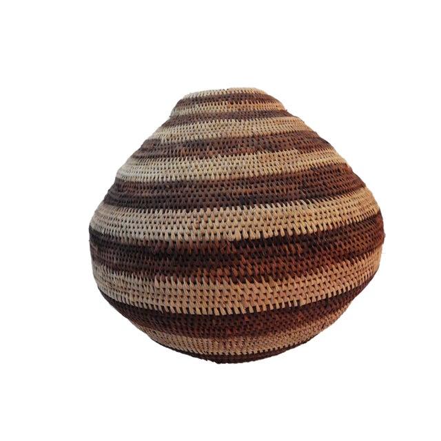 Botswana Primitive Folk Art Handmade African Basket - Image 5 of 6