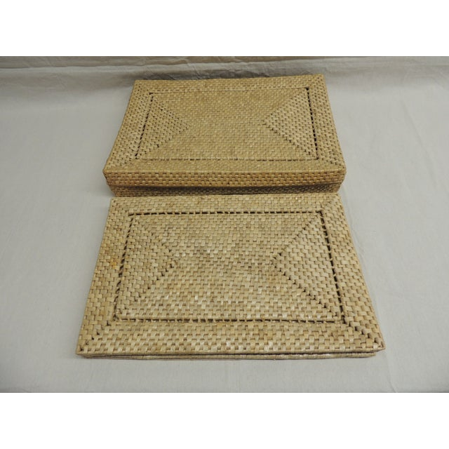 Image of Vintage Seagrass Placemats - Set of 4