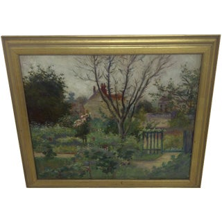 """Monet's Farm"" Reproduction Painting"