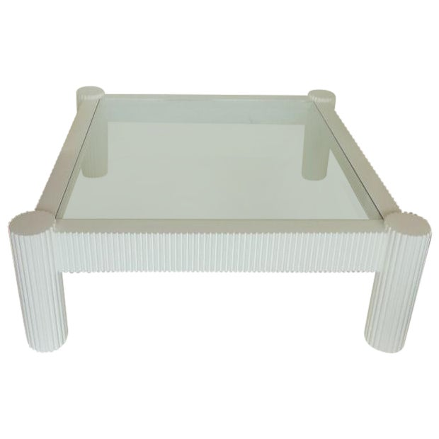 Wood And Glass Italian Coffee Table Chairish