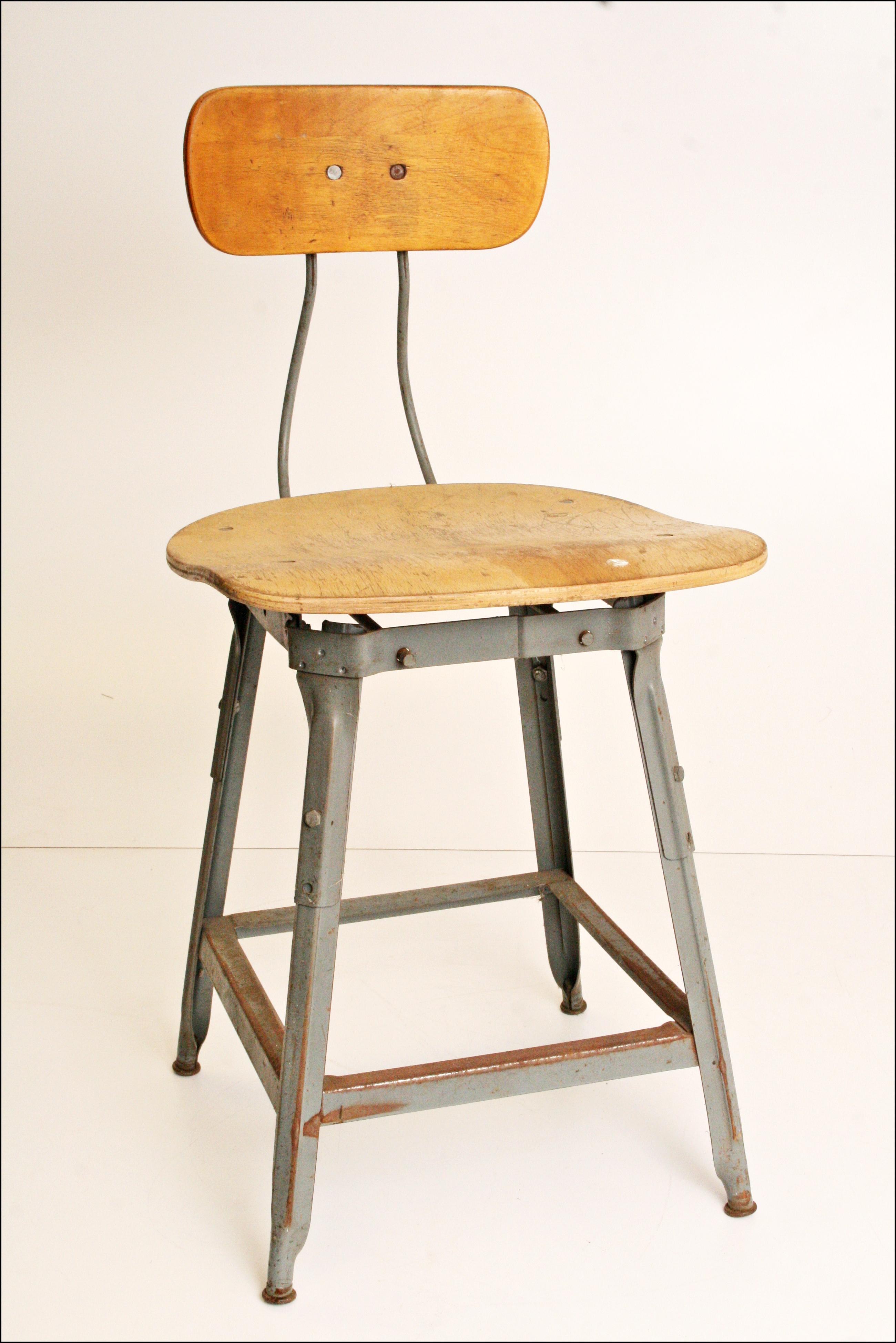 Vintage Industrial Metal Drafting Stool Chairish