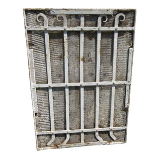 Antique Victorian Iron Architectural Salvage Door