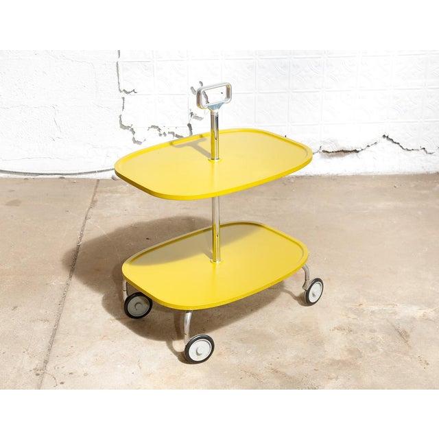 Kartell Italian 2-Tier Trolley Cart - Image 3 of 8