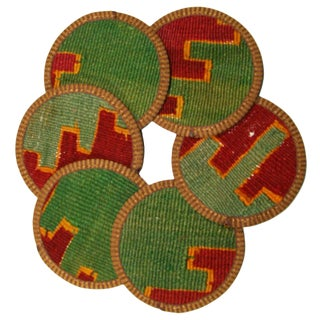 Kilim Coasters Set of 6 - Hazar