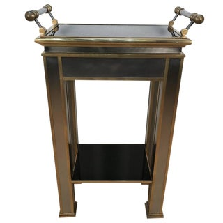 Mastercraft Brass and Mirrored Tray Table