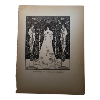 Venus and Tannhauser Print by Aubrey Beardsley 1927