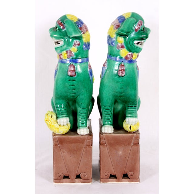 Image of Large Chinese Foo Dogs - Pair
