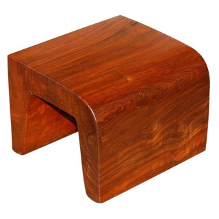 Hand-Crafted Redwood Stool/Side Table by Bruce Mitchell
