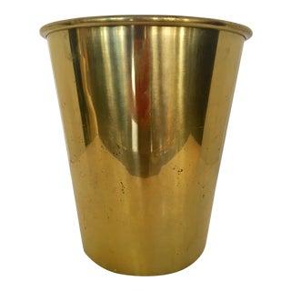 Vintage Brass Wastebasket/Wine Cooler