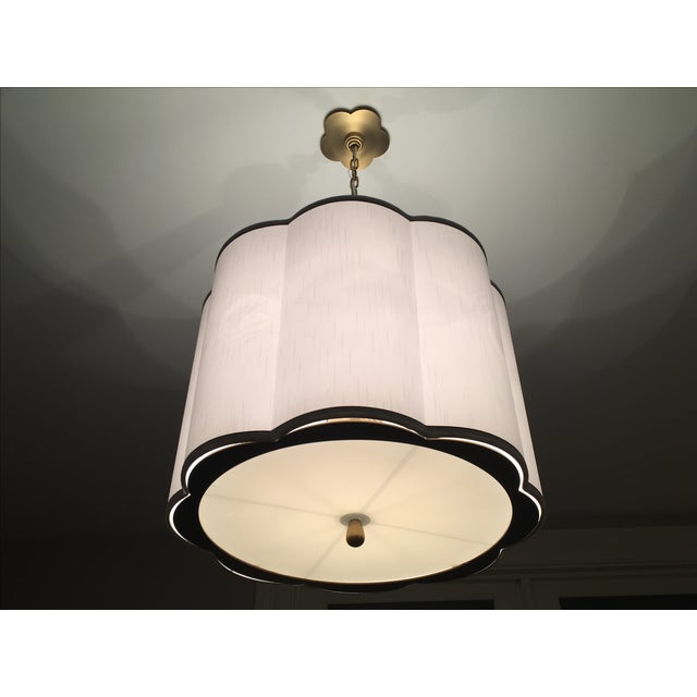 Image of Modern Brass & Drum Shade Pendant