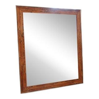 Chrome & Bamboo Mirror