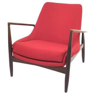 1956 Vintage Ib Kofod Larsen for Ope Mobler Seal Chair