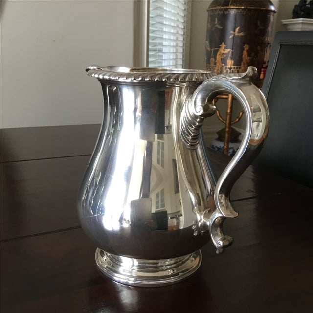 Gorham English Solid Sterling Silver Water Pitcher - Image 4 of 6