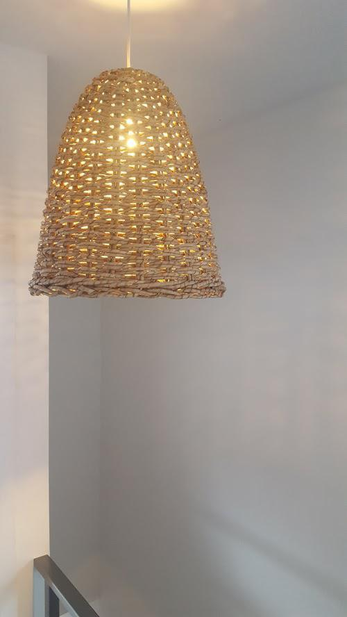 Woven Seagrass Bell Pendant Light | Chairish  sc 1 st  Industrial Style Kitchens Black And Grey Bedrooms Couch Converts ... & Woven Pendant Lamp] Amusing Woven Pendant Light Brilliant Pendant ... azcodes.com