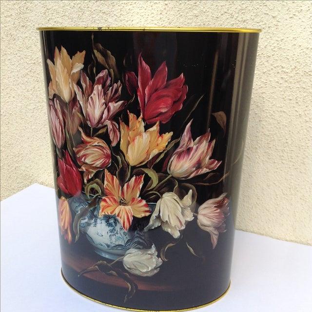 Vintage Tulip Wastebasket - Image 4 of 8