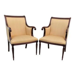 Southwood Regency Style Mahogany Armchairs - A Pair