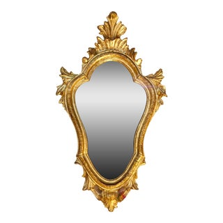 Baroque Style Escutcheon Form Gilt Mirror