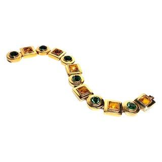 Green & Yellow Rhinestone Bracelet