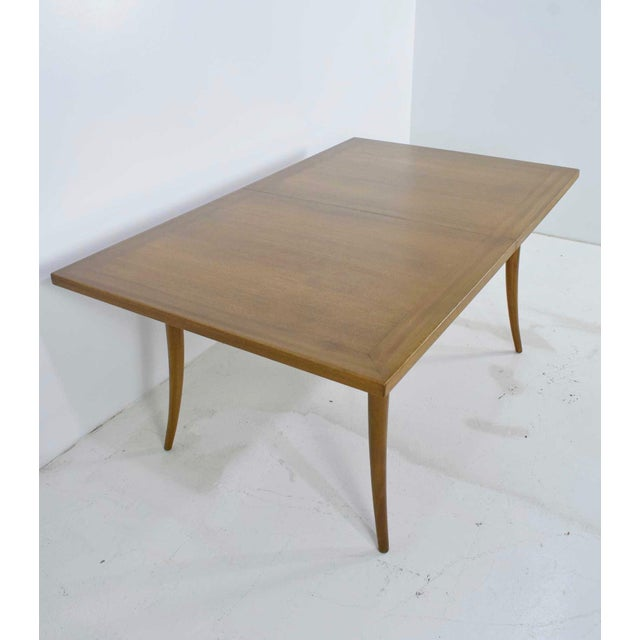 Harvey Probber Saber Leg Table in Bleached Mahogany - Image 10 of 10