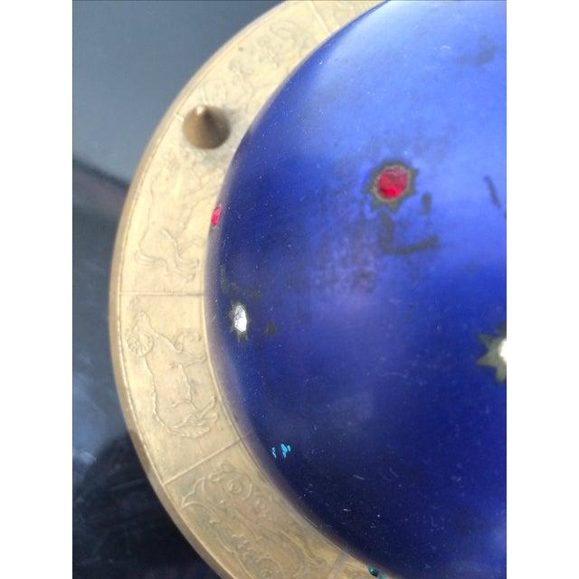 Blue Zodiac Globe Pop-Up Cigarette Holder - Image 7 of 8