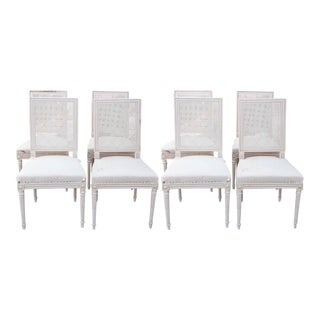 French Dining Chairs W/ Caning - Set of 8