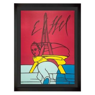 """Valerio Adami Original """"Eiffel"""" Lithograph"""