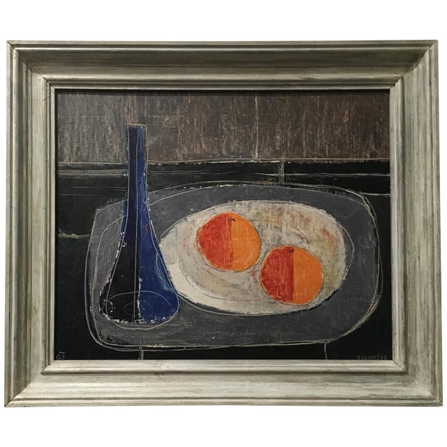 Two Oranges Mid-Century Painting by Jean Volovsek - Image 1 of 4