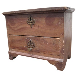 Miniature Paint Decorated Blanket Chest