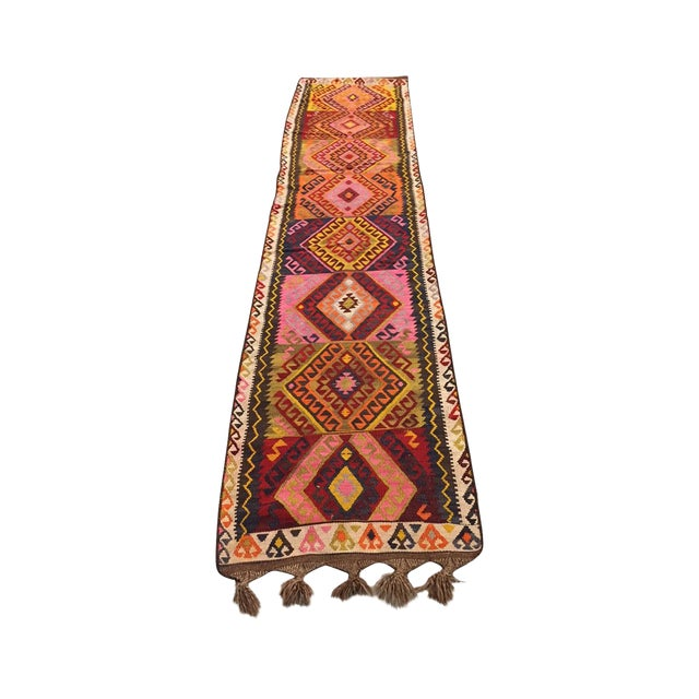 Vintage Kilim Runner - 2′5″ × 12′4″ - Image 1 of 5