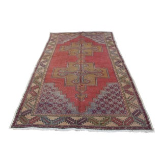 Handmade Antique Turkish Rug - 4′1″ × 8′7″