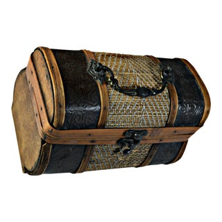 Brass & Wood Coffer for Cigars