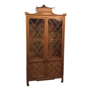 Tomlinson Pagoda Greek Key Bells China Cabinet