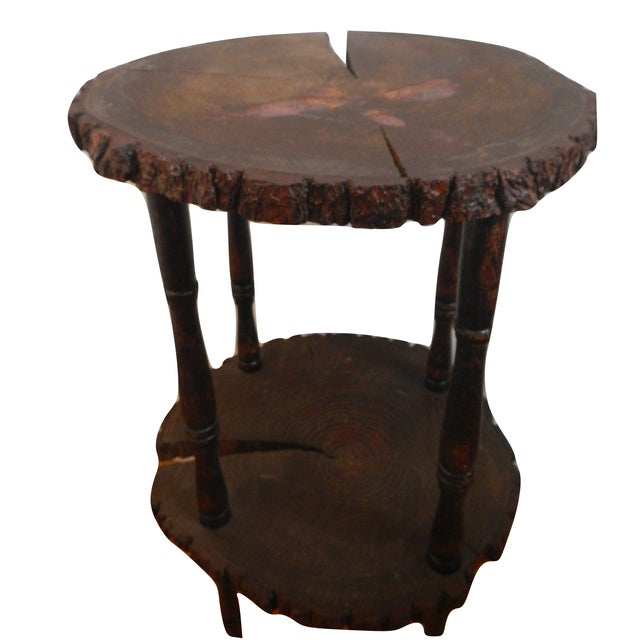 Image of Custom Handcrafted Reclaimed Pine Table Side Table