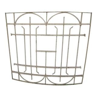 Antique Victorian Iron Gate Window Garden Fence Architectural Salvage Door