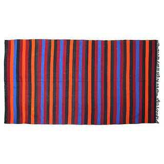 Moroccan Berber Striped Blanket