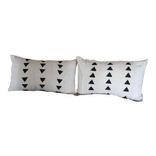 Black & White African Mud Cloth Pillows - A Pair
