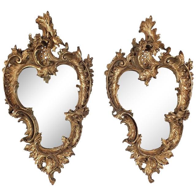 Italian Rococo Gilt Resin Wall Mirrors - A Pair - Image 1 of 7