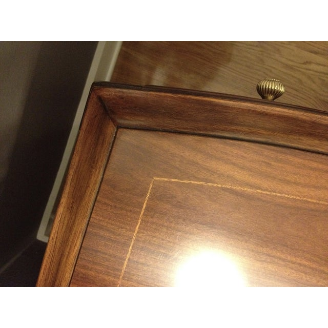 Bob Mackie Signature Bowed Rosewood Nightstand - Image 5 of 9