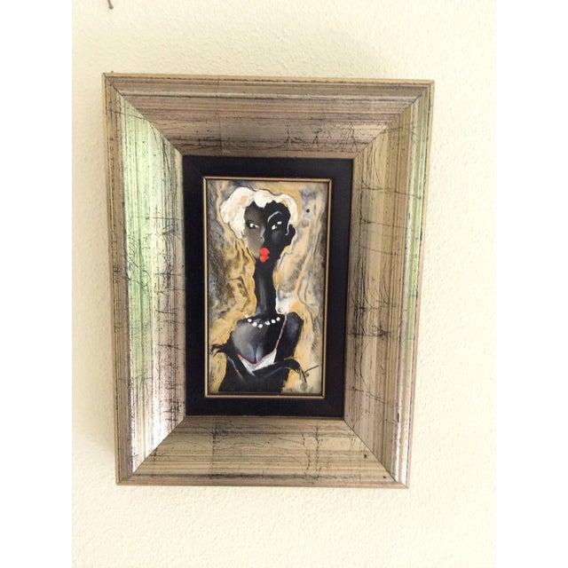 Viktor Sheleg Night Girl Oil Signed Original - Image 3 of 5