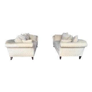 Custom Chenille Sofas - A Pair
